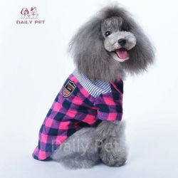 Il cane della camicia di plaid di disegno di modo copre l'abito dell'animale domestico