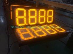 給油所の赤い緑の黄色LEDデジタルの価格の表示
