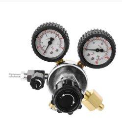 CO2 регулятор давления цилиндра экструдера пиво с регулятором давления предохранительного клапана для 0-3000фунтов на газ с двойной индикатора углекислого газа понижающего редуктора