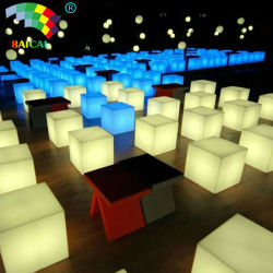 Bar Garden Nightclub Hotel의 LED Light Cube 의자