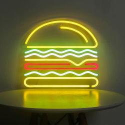 علامة ضوء النيون لضوء الهامبرجر مخصصة 12 فولت لعلامة أكريليك Neon Acrylic