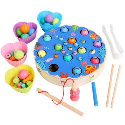 Дети 4 в 1 Монтессори в начале учебных магнитных Промысел игрушек дети многофункциональный шахматы зажим валика деревянный стол игры