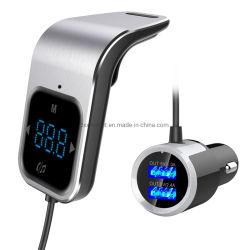 Transmisor FM Bluetooth Car Kit manos libres con doble USB CARGADOR