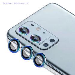 Protector de pantalla de lente de cámara para Oneplus 9 (6,55'') Premium templado Cubierta de lente de aleación de aluminio de vidrio para Oneplus 9 (6,55 pulgadas)
