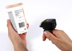Fs02p apontar o dedo do scanner de código de barras a laser scanners de código de barras para a logística Android Inventário de armazém