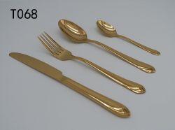 Kleur Wigh Gouden T068 van uitstekende kwaliteit van het Bestek van het Diner van het Roestvrij staal de Vastgestelde