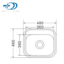 統合されるホテルの家具洗浄テーブルウェア480*460mmのための小さいステンレス鋼の台所洗面器を伸ばす