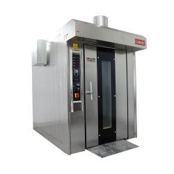 32 bandejas Rack rotativos eléctricos de Gas Diesel horno para panadería con CE