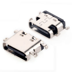 سعر عالي الجودة وسعر تنافسي 16 سنًا في منتصف التركيب، منفذ SMT USB واحد موصل المقبس الأنثوي من النوع C لشاحن معدات 3c