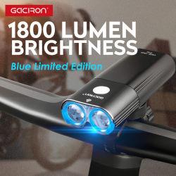 Banco di potenza per biciclette a LED fuoristrada potente da 1800 lumen più recente di Gaciron Luce per bici a LED anteriore ricaricabile USB