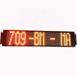 P12.5x10 16X96 pontos de ônibus LED 24V mensagem de LED da placa de sinal