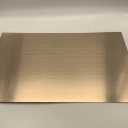 Revestimiento de color Champagne-Gold la hoja de acero utilizados para la nevera el panel trasero