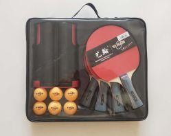 Ping Pong 라켓 세트 4라켓 6개, 넷 포함