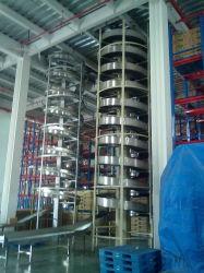 Spirale verticale pour le transport du convoyeur entre les étages de l'objet emballé