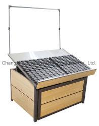 슈퍼마켓 선반 소매 식료품 나무 및 금속 과일 & 야채 디스플레이 랙