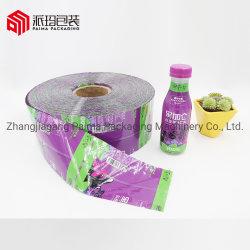 ガラスビンのためのカスタマイズされたPet/PVCのプラスチック収縮の覆いのびんのラベルの縮みやすい袖のラベル