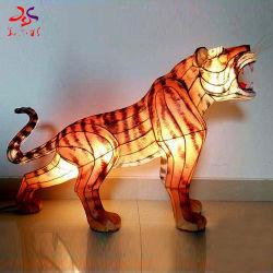 Для использования вне помещений декоративной традиционный китайский тигр Rhino Leopard гусиной внутренних фонарей животных с подсветкой