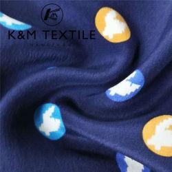 16mm 100% único color imprimen estirar el tejido de seda
