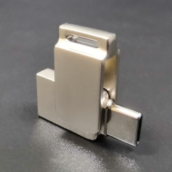 Logotipo personalizado promocional USB 2.0 de giro Metal 3.0 8GB 16GB 32 GB Tipo C OTG Unidad flash para Android y iPhone (UL-OTG019)