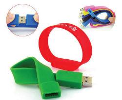 Azionamento B606 della penna dell'azionamento dell'istantaneo del USB del braccialetto del silicone con il marchio di stampa