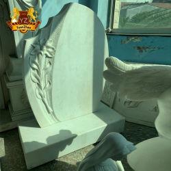 新しいデザイン厳粛な大理石の墓石の墓の石