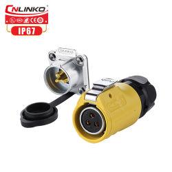 Cnlinkoは3つのPin電池コネクター速いプラグをケーブルで通信するためにIP67 M20のパネルケーブルを防水する