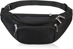 5 bolsos do fecho de cintura de Nylon Fanny Pack para homens