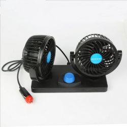 """Ventilateur de voiture 12V 4.5 """" voiture électrique du ventilateur de refroidissement double tête avec 360 Degré réglable"""