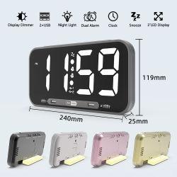Granel Despertadores barato relógios de parede Relógio de parede digital grossista com segundos