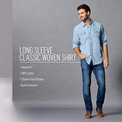 Camicia classica a bottoni intrecciati a manica lunga in vendita a caldo con tasca