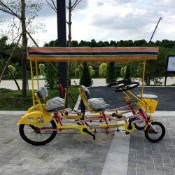 저렴한 4인용 4륜 탠덤 관광 서리 자전거