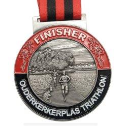 Ontwerpt de Goedkope Douane van de fabriek Uw Eigen Medaille van de Sport van de Marathon van de Toekenning van het Metaal van het Messing van de Legering van het Zink 3D Antieke Lopende voor PromotieGift