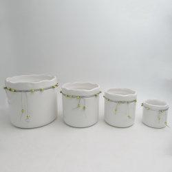 Plantes Succulentes Jardinage intérieur carré en céramique émaillée de couleurs personnalisées Pot de fleurs