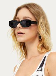 Fashion Retro Vintage Sun Glasses Goedkope plastic Designer frames klein Ovale zwarte oogbroek trendy zonnebril voor dames