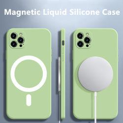 iPhone 12 Mini 11 PRO용 내충격 보호 후면 덮개 Max Xs XR X 8 Se 2020 Macsafe Mag 실리콘 케이스 범퍼 자석 셸
