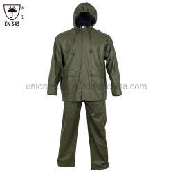 Custom en343 Rainsuit Rainwear impermeável homens calça jaqueta de PU PVC vestuário chuva fina