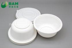 Rótulo de segurança biodegradável descartável de louça de amido de chapa para servir as refeições quentes