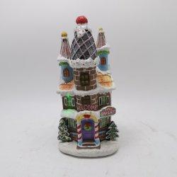 Vendita a caldo artigianato in resina dipinti a mano Polyresin Xmas Houses Village Decorazione di Natale