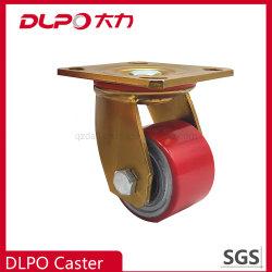 Dlpo 75mmの重い産業旋回装置ポリウレタン鋳鉄の足車の車輪型