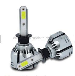 3 측 4 측 40W 옥수수 속 팬 냉각을%s 가진 자동 차 기관자전차 LED 헤드라이트