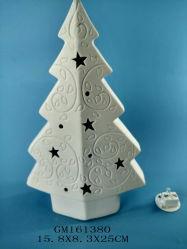 Keramischer Weihnachtsbaum mit LED-Licht