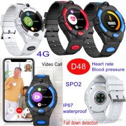 4G Round ecrã IPS altos Healthcare Vigilância GPS Tracker com Cair Detetion D48