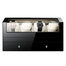 Contenitore di monili del cassetto dell'argano della vigilanza di bobina di auto dell'orologio di vendita migliore dell'argano della vigilanza dell'agitatore automatico freddo del basamento