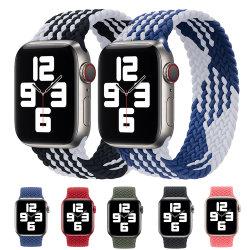 Gerecyclede gevlochten Solo loop nylon/siliconen/garen/Interwoven Iwatch Apple Horloge Band
