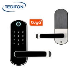 Tuya Mobile APP vida inteligente à prova de impressão digital biométrico digital eletrônico inteligente fechaduras de porta para Home