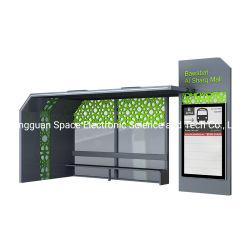 屋外ステンレススチール構造アルミニウム合金製バスシェルタ(広告付き) ライトボックス