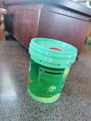 وعاء بلاستيكي سعة 20 لتر من نوع بدن الأسطوانة للطلاء وزيت التشحيم
