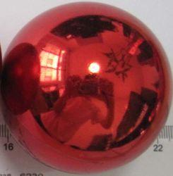 30cm plaine rouge brillant Big Boule de Noël en plastique