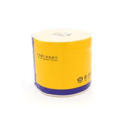 Le papier de toilette ménage couleur naturelle des tissus de rouleau de papier creux de 180 grammes de 3 couches de pâte de bambou écru du rouleau de papier (T5)
