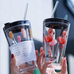 Produits en usine le commerce de gros logo personnalisé en verre de lait de boissons Thé tasse à café de l'eau
